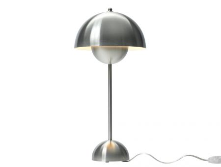 VP3 FlowerPot Tischlampe (table lamp) chrome by Verner Panton, © &tradition, Dänemark
