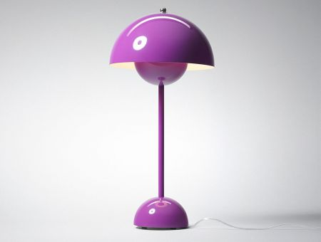 VP3 FlowerPot Tischlampe (table lamp) violett by Verner Panton, © &tradition, Dänemark