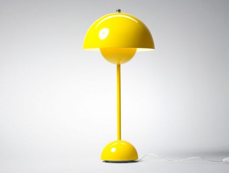 VP3 FlowerPot Tischlampe (table lamp) gelb by Verner Panton, © &tradition, Dänemark
