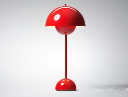 VP3 FlowerPot Tischlampe (table lamp) rot by Verner Panton, © &tradition, Dänemark